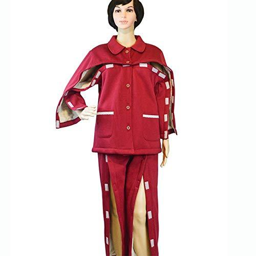 Jnzr Les vêtements du Patient, Fracture du Patient Adaptive Apparel Patients alités Hôpital et Soins Infirmiers à Domicile,Women,XL