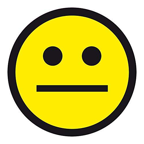 Aufkleber Etikett Produktampel Smiley gelb neutral Ø 20 mm auf Rolle mit 100 Aufklebern selbstklebend