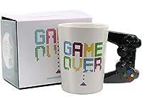 Game Over Game Controller Taza en forma de manija por Puckator Taza de colector de cerámica de alta calidad de 11 cm de altura