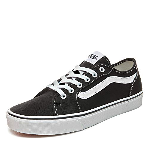 Vans Herren MN Filmore Decon Sneaker, Schwarz ((Canvas) Black/White 187), 42.5 EU