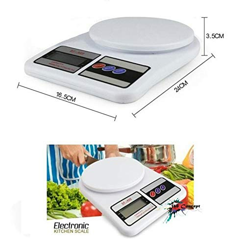 Glun Multipurpose Portable Electronic Digital Weighing Scale Weight Machine (10 Kg - with Back Light) 3