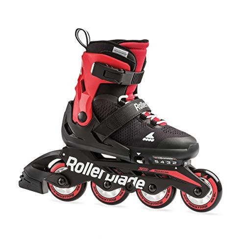 Rollerblade Microblade, Pattini Bambino, Nero/Rosso, 36,5-40,5