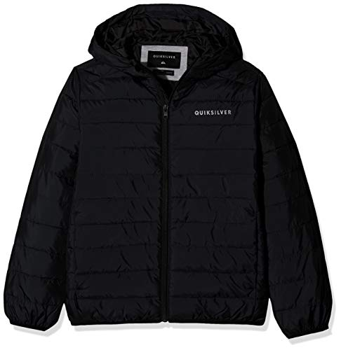 Quiksilver Jungen Scaly-Steppjacke mit Kapuze 8-16, Black, L/14