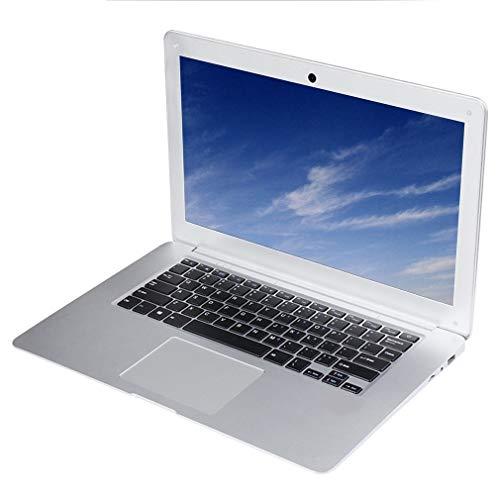 bansd 14 Zoll 2 GB Ram 1080P Windows 10 System Vierkern-CPU 32 GB virtueller Speicher (einschließlich Systemspeicher) Weißer Laptop Silber Weiß Eu