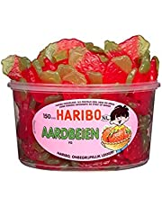 Haribo reuzenblikje aardbeien 150 stuks - 1350 gram