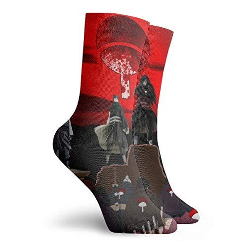 XCNGG Calcetines de vestir suaves y cálidos de invierno: calcetines cortos estampados casuales para hombres y mujeres