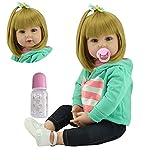 Binxing toys 60cm 24 Pulgadas Bebe Reborn niña Reborn Toddler muñeca Encantadora Chica...
