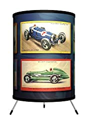 Retro Lamps with Vintage Race cars