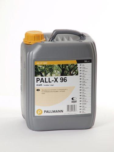 Pallmann Pall-X 96 MATT 5 Liter Parkettlack 1K-Parkettversiegelung Wasserbasierende Parkett- und Korkversiegelung für Stark Beanspruchte Parkett- und Naturkorkböden