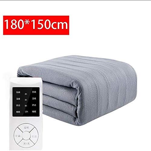 WXQY verwarmingsdeken van vliesstof, elektrisch bed voor het verwijderen van huisstofmijten, 4 snelheidsinstellingen, oververhitting, dubbele thermostaat
