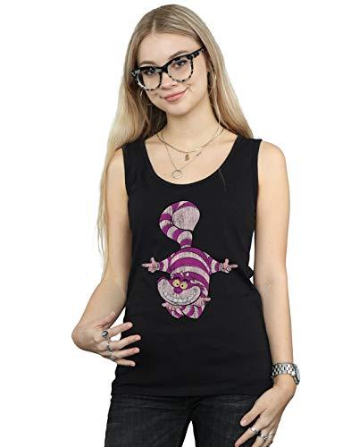 Disney Women's Alice in Wonderland Cheshire Cat Upside Down Tank Top Black Small