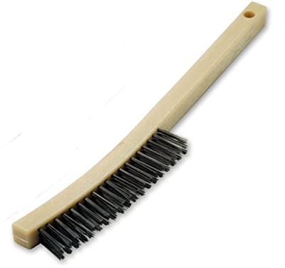 Mercer Abrasives Scratch Brushes 13-1/2-Inch Wooden Curved Handle with Scraper