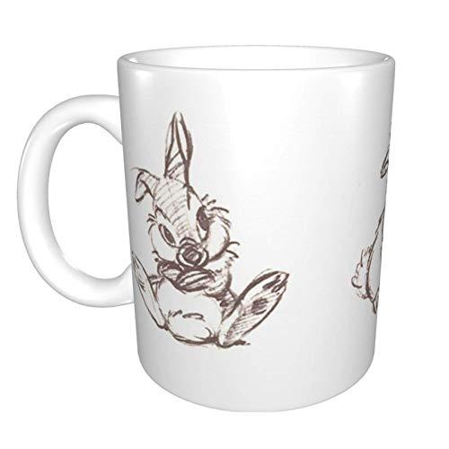 Peter Rabbit - Taza de café de cerámica para té o bebidas heladas, color blanco