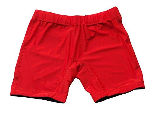 Blank MMA Men's Vale Tudo Compression Shorts (L, Red)
