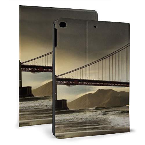 Landschappen Natuur Dieren Dubbele Scherm Duel Case Compatibel met 2018 iPad mini 2017 iPad air1 - Zeer Beschermend Maar Dun + Handige Magnetische Stand + Slaap/Wakker Cover, iPad air1/2 9.7, Zwart