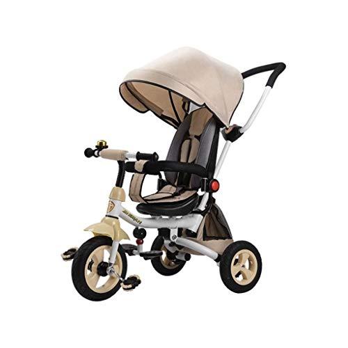 ZXCMNB Triciclo For Niños, Carrito De Juguete For Niños, Asiento Reclinable Plegable...