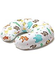 Niimo Cojin Lactancia Bebè Funda Cojin 100% Algodòn Extraíble y Lavable Almohada Multifuncional para Madre y Bebé Relleno de Fibra de Poliéster (Selva)