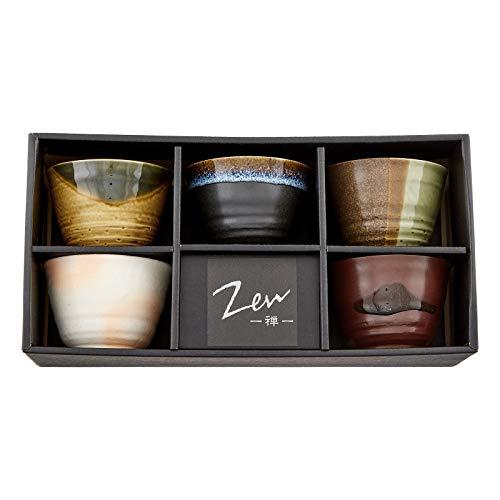 Teeschalen-Set GOYOU Geschenk-Set japanische Kaffeetasse hergestellt in Japan 5er Tassen Schalen-Set