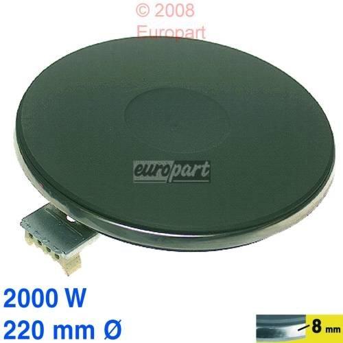 Kochplatte 220mmØ, 2000 Watt 230V EGO 12.22453.199 1222453199