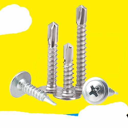 Dovetail Screw Countersunk Head Self Drilling Screws Cross Drill Tail Screws 410 Stainless Steel/Carbon Steel Custmize-M4.8x19 (20pcs),Carbon Steel