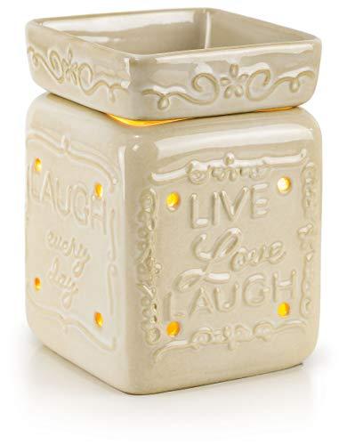 VP Home Ceramic Fragrance Warmer (Live Love Laugh)