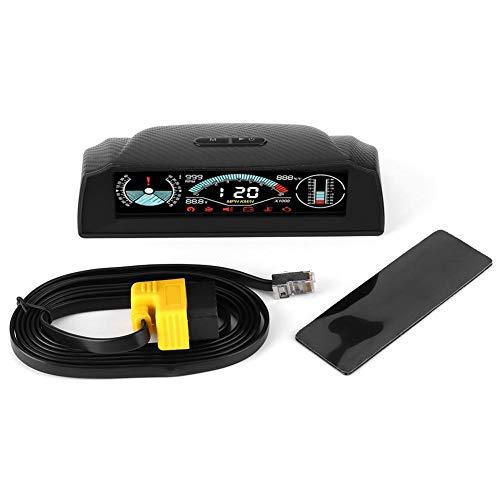 Auto-Head-up-Display, digitaler Neigungsmesser Füllstand und Winkelanzeige Abschrägungsanzeige Neigungsmesser Finder-Messgerät Neigungsmesser mit Kompass für OBDII 12V Auto/SUV/RV/LKW/Anhänger Gelände