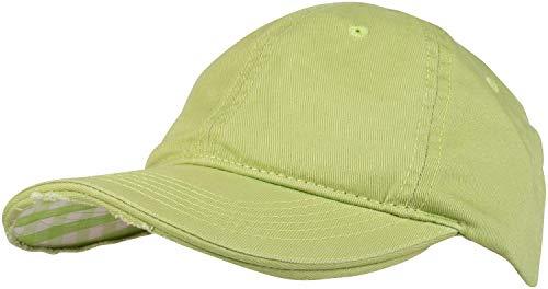 styleBREAKER Vintage Baseball Cap mit Karierter und gefütterter Unterseite, verstellbar, Unisex 04023048, Farbe:Hellgrün/Limettengrün-Weiß kariert