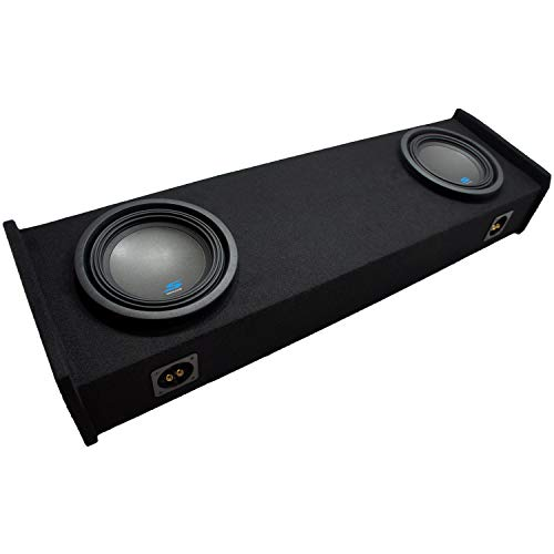 """Compatible with 1997 1998 1999 Ford F-150 Super Ext Cab Truck Alpine S-W10D2 Type S Car Audio Subwoofers Custom Dual 10"""" Sub Box Enclosure Package"""