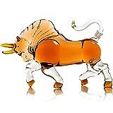 Animal Whisky Decanter Bull Modeling - Animal Personalizado Cara de vino tinto, plomo soplado a mano CRISTAL CRISTAL GRATUITO