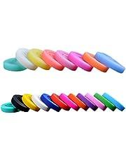 STOBOK Pulsera de Silicona Multicolor Luminoso Deportes Pulsera Bandas de Goma 20 Piezas