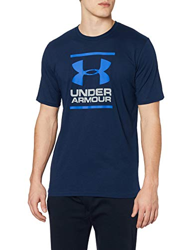 Under Armour GL Foundation Short Sleeve T-Shirt Camiseta de Manga Corta, Hombre, Azul (Academy/Steel/Royal 408), XL