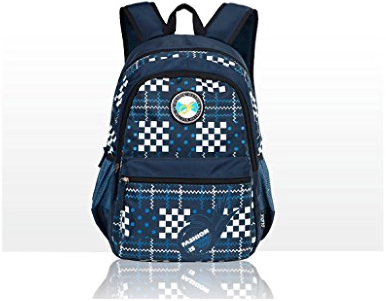 GLJ Student Bag Shoulder Bag Tide Leisure Backpack Backpack (color   Royal blueee)