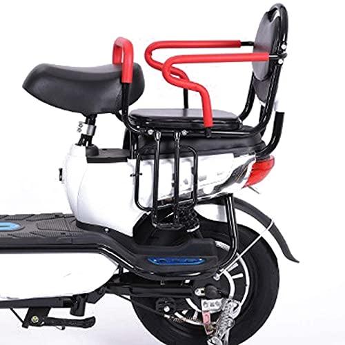 RVTYR Asiento de Bicicleta para niños con Seguridad Segura clásica, con cinturón de Seguridad de los Pedales de reposabrazos, para niños de 2 a 8 años. Accesorios para Bicicletas