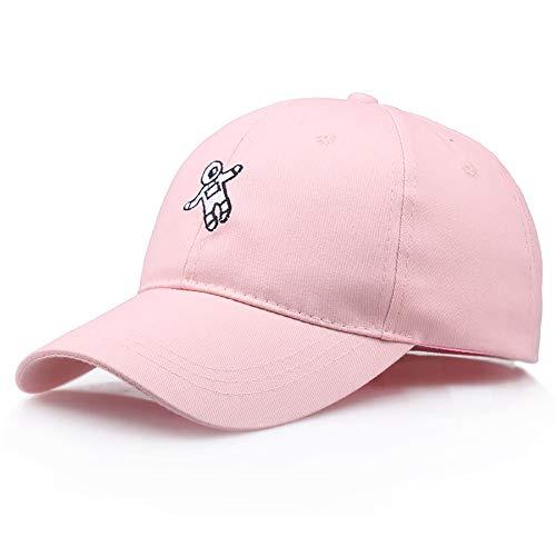 Boné de beisebol FANZHOU, cor lisa, casual, com astronauta bordado, hip hop, para uso ao ar livre, viseira solar, 4 cores disponíveis, fecho de encaixe, unissex, rosa