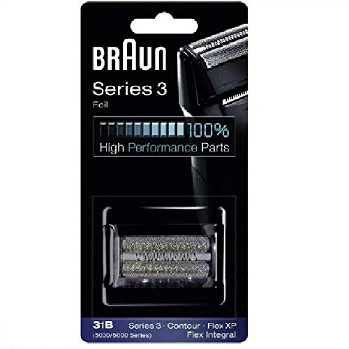 Braun 31B 5000/6000 Series 3 Contour Integral Shaver Foil Cutter Set with Braun Cleaning Brush and Braun Oil