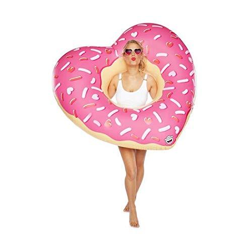 BigMouth Inc Riesiger Donut-Schwimmer, mattiert, Herz-Donut.