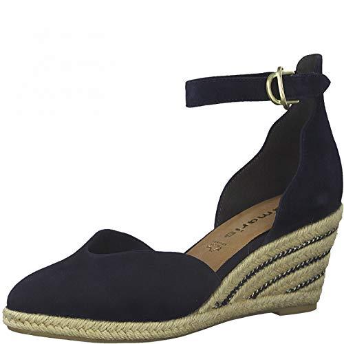 Tamaris Damen Keilpumps, Frauen Pumps,Touch It-Fußbett,Keilabsatz,Wedge-Heel,weiblich,Women's,Court,Shoes,Absatzschuhe,Lady,Navy,40 EU / 6.5 UK