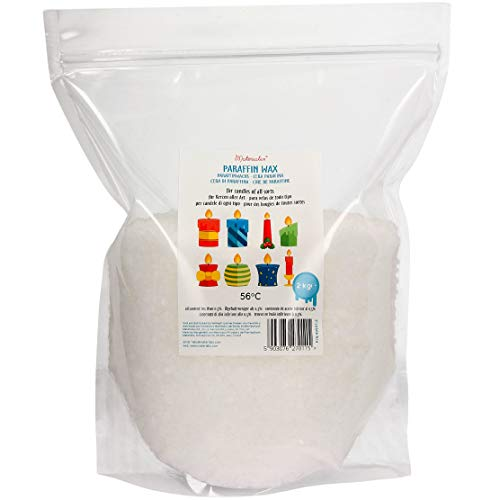 Materialix Cera de parafina para velas - varios tamaños (2kg)