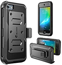 i-Blason Armorbox Case Designed for iPod Touch 7/6/5, Full Body Case with Built-in Screen Protector for Apple iPod Touch 5th/6th/7th Generation, Black