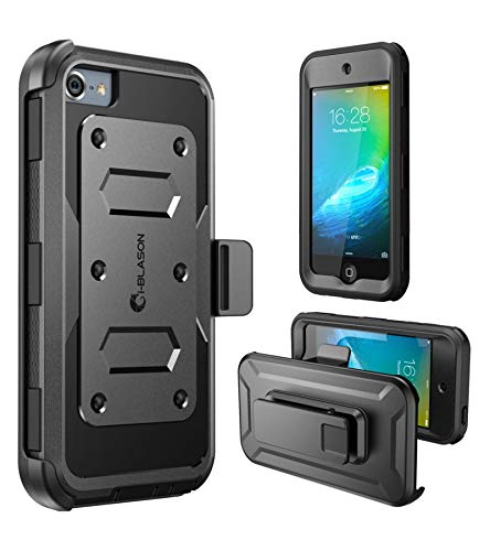 i-Blason Cover iPod Touch 7/6/5, Custodia a 360 gradi Protezione per Display Integrata [Serie Armorbox] Rugged Apple iPod Touch 7 / 6 / 5 Case, Nero