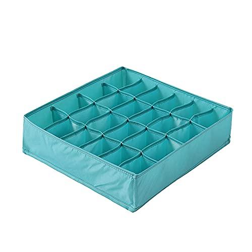 beizi Caja de almacenamiento de ropa interior lavable plegable sostenes calcetines cajón organizador multifunción para el hogar (color verde)