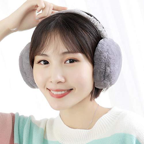 イヤーマフラー耳あてウォーマー耳当て防音防寒冬の女性のかわいい折りたたみ式の暖かいイヤーマフ1pcs,清装咖啡