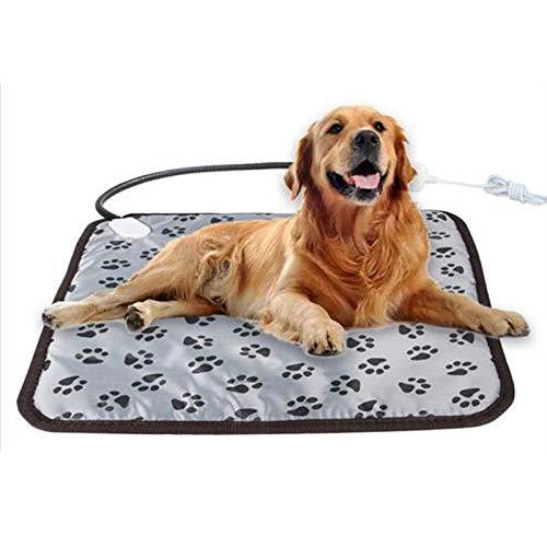 Coussin chauffant électrique pour animaux domestiques, coussin chauffant pour chiens et chats, coussin chauffant réglable pour animal domestique, tapis chauffant électrique étanche 45 x 45 cm