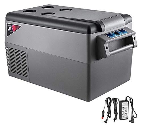 SHUHANG 35l Kompressor tragbarer Kleiner Kühlschrank Auto Kühlschrank Gefrierschrank Fahrzeug Auto LKW rv Boot Mini elektrisch kühler (Color : Black, Size : 55L)