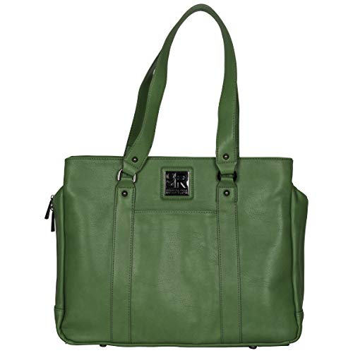 """Kenneth Cole Reaction Women's Hit Pebbled Faux Leather Triple Compartment 15"""" Laptop Business Tote, Kelly Green"""
