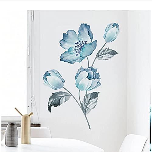 Adesivi murali By SYHHTTQ Bouquet Di Orchidee Wall Sticker Camera Da Letto Soggiorno Decorazione Della Casa Murale Frigorifero Armadio Fiori Carta Da Parati 53X76 Cm
