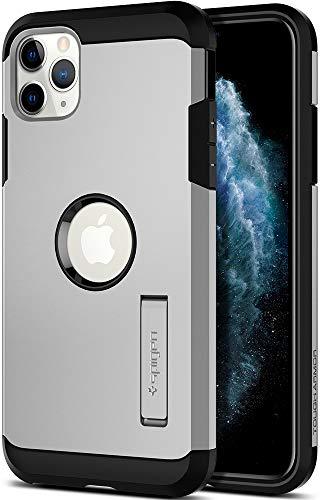 Spigen Tough Armor Funda iPhone 11 Pro MAX, Compatible con Apple iPhone 11 Pro MAX (6.5') 2019 - Satin Silver