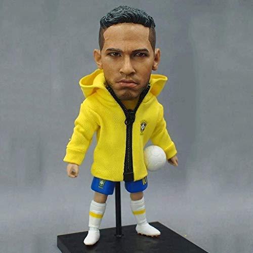 Soccer Star 1/6 Neymar Figura de acción de coleccionista de la selección nacional de fútbol de Brasil/coleccionables para fanáticos del fútbol/Decoración del tablero para coche 13CM