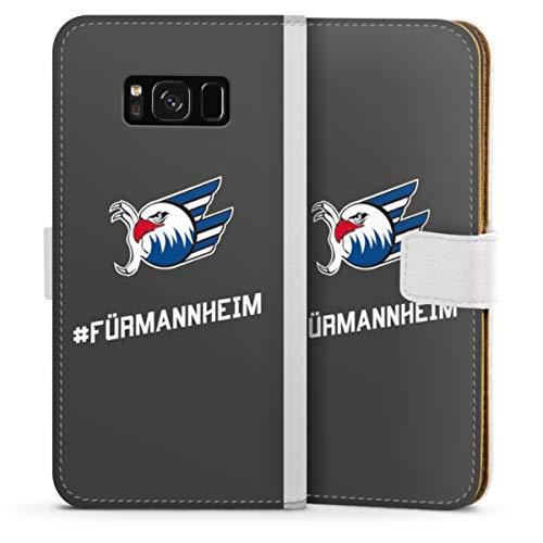 DeinDesign Klapphülle kompatibel mit Samsung Galaxy S8 Handyhülle aus Leder weiß Flip Case Adler Eishockey Logo