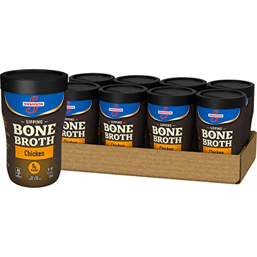 Swanson Sipping Bone Broth, Chicken Bone Broth, 10.75 Ounce Sipping Cup, Pack of 8